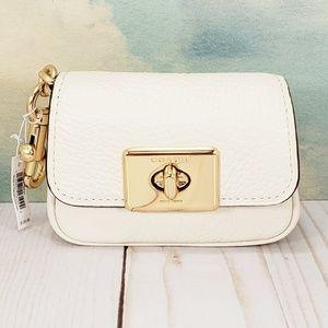 COACH Mini Cassidy Coin Case Bag Charm Chalk